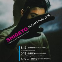 SHIGETO JAPAN TOUR 2018